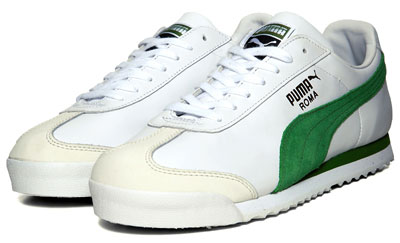 67e1455f577 Puma Roma Classic trainers reissued in white and green