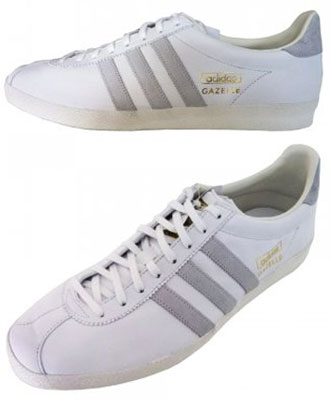adidas white gazelle trainers