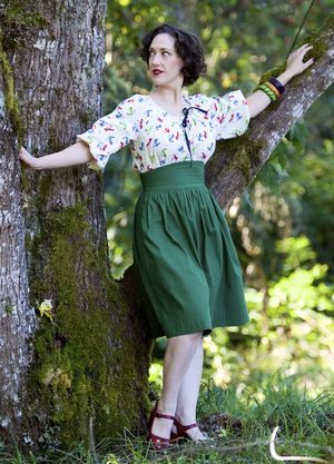 Jitterbuggin 40s Peasant Top Dress
