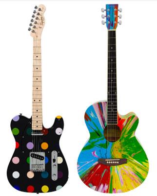 Damien-hirst-guitars