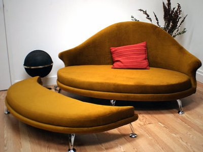 1960s Style Furniture havana love seat and ottoman | retro to go