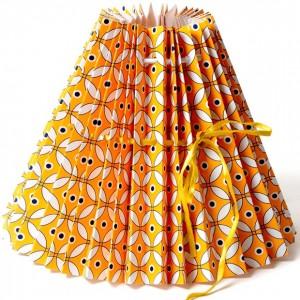 Rie-elise-larsen-orange-black-pleated-paper-lampshades