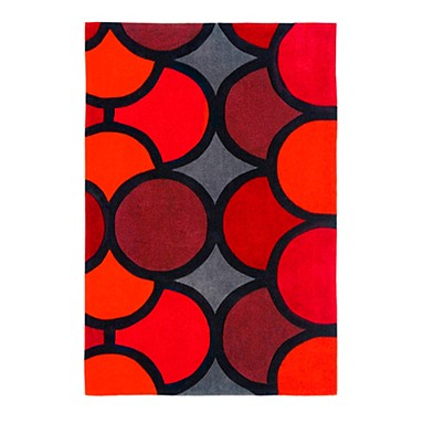 1960s Style Harlequin Bubble Rug From
