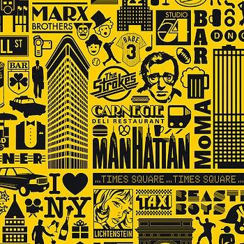 NY print detail