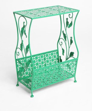 Green Flourish Side Table