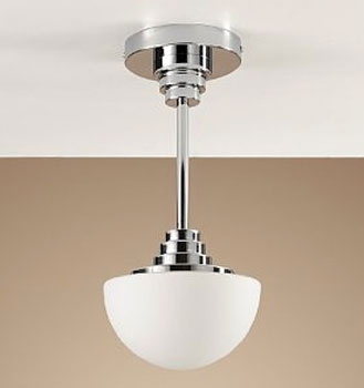 Art Deco Style Half Moon Ceiling Light At Marks Spencer Retro To Go