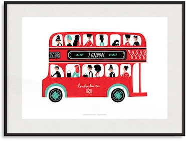 London bus print by Debbie Powell