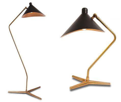 1950s Style Dino Table And Floor Lamps At Gong Retro To Go