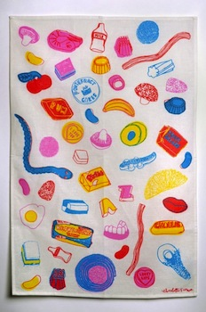 Pick n mix tea towel