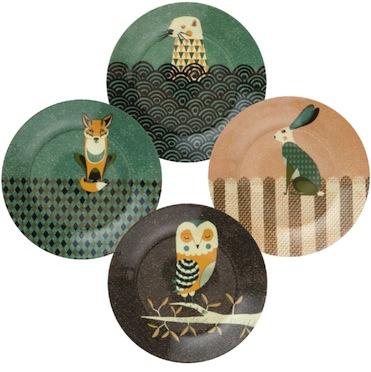 Tom frost wildlife dusk plates