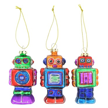Paperchase robot ornaments