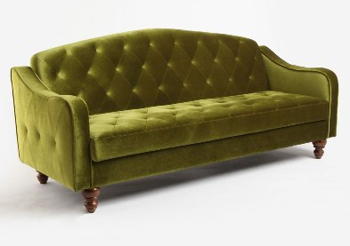 The Ava Moss Sleeper Sofa Bed From Urban Outers Looks Like A Clic Piece Of Vintage Furniture At First Glance You Would Never Guess It Converts Into