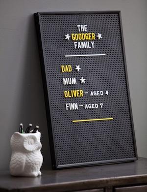Rose and grey burger board