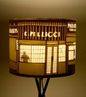 Shady street lampshade