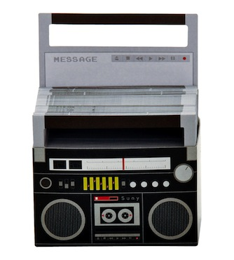 Boombox notepaper