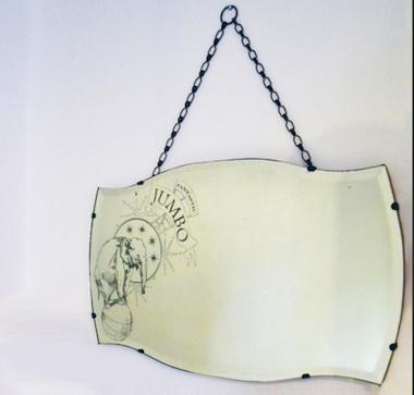 Circus antique mirror