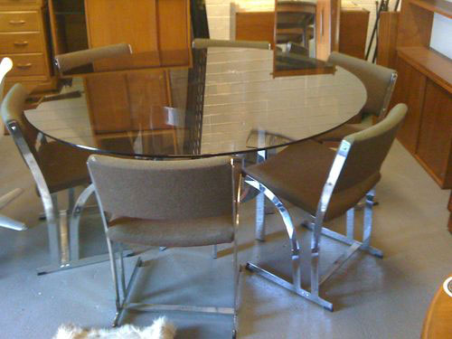 EBay Watch Merrow Associates Glass And Chrome Dining Table With Six Matching Chairs