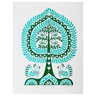 Folk-tree-birds-print