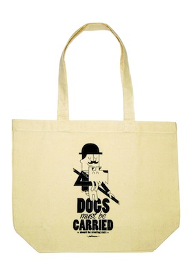 Dogs Must Be Carried tote
