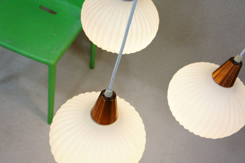 EBay Watch Danish Midcentury Three Drop Pendant Light