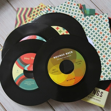 Old school records note cards