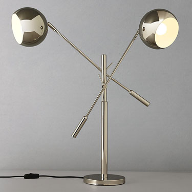 John lewis austin retro double head table lamp retro to go interesting quirky and unmistakably retro in inspiration thats the john lewis austin double head table lamp aloadofball Image collections