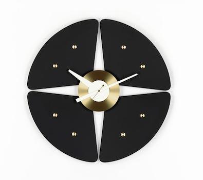 Vitra Black Petal clock