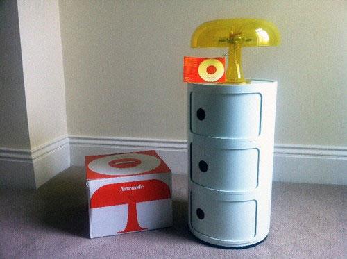 Ebay Watch Vintage Space Age Artemide Nessino Mushroom Table Lamp