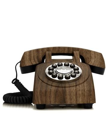 Walnut telephone