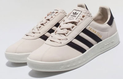 pretty nice fdf41 1c272 No, were not sure what bliss is, but thats the colour of these Size  exclusive Adidas Trimm-Trab trainers, which you can see above.