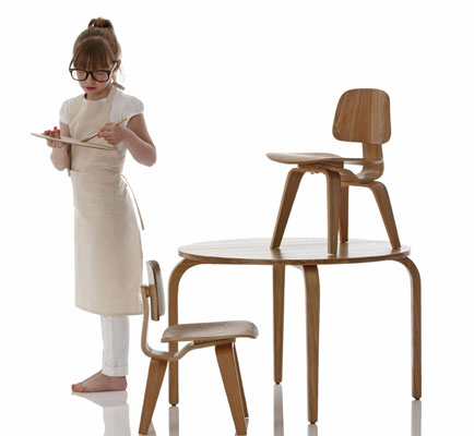 Superb Eames Inspired Woody Table And Chair Set For Kids At Little Cjindustries Chair Design For Home Cjindustriesco