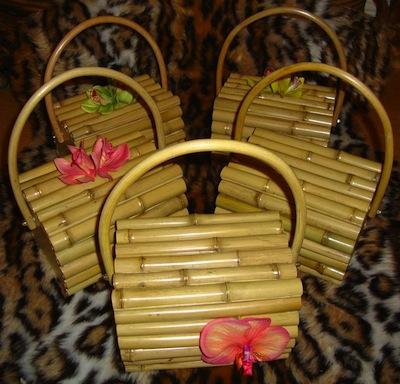 Miss Bamboo tiki bag