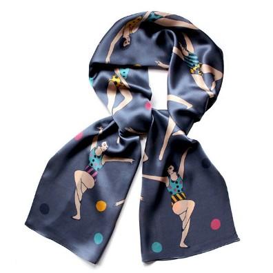 Gymnast-silk-scarf-grey
