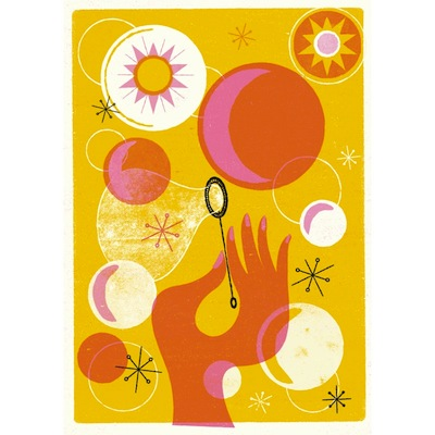 Summer bubbles print