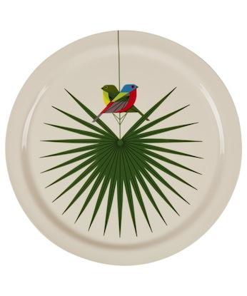 Flamboyant feathers platter
