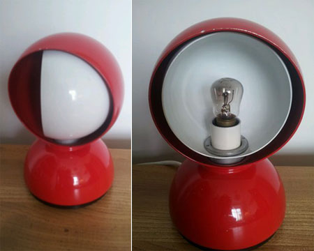 Ebay watch 1960s vico magistretti eclisse table lamp retro to go vico aloadofball Image collections