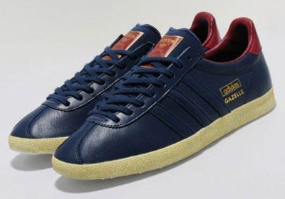 adidas gazelle leather trainers