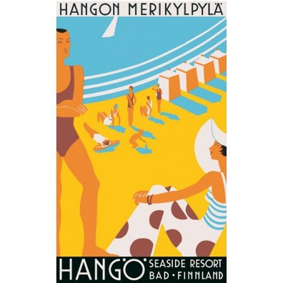 Hanko-hango-seaside-resort-vintage-travel-poster