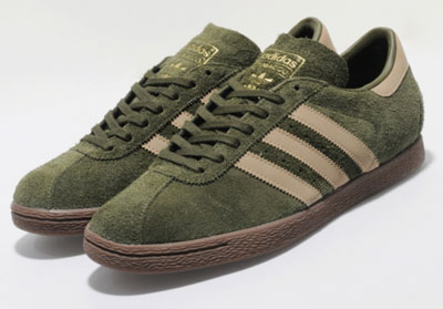 On sale today and unlikely to be around long are these 1970s Adidas Tobacco  trainers in earth green suede. aaa2312b4