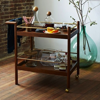 Parker mid-century bar cart