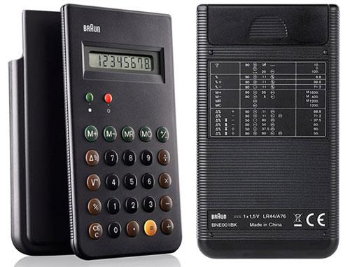 Braun braun bne001bk (reissue of the braun et66 calculator), black.