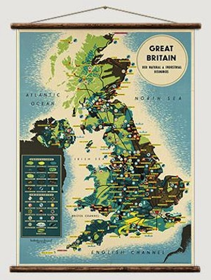 1930s Great Britain map
