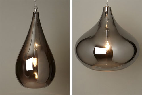 1970s style lily and leah smoke glass pendant lights at bhs retro l1 aloadofball Image collections