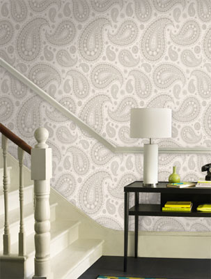 It isnt cheap but if youve always fancied cladding your walls in a paisley print you can do just that with this gentlemans relish wallpaper by opus