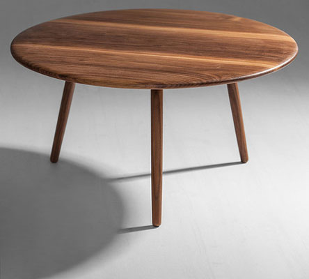 That Might Have Been Something Of A Niche Design But This Round Walnut Coffee Table
