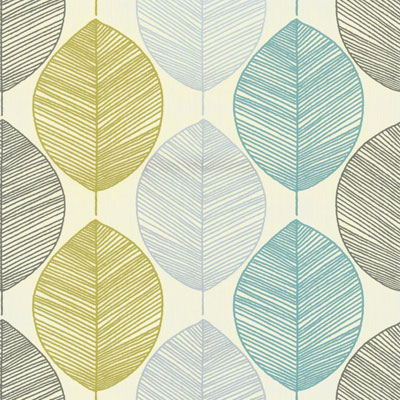 Affordable Midcentury Cool Arthouse Retro Leaf Wallpaper To Go