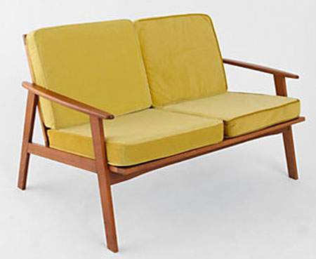 Midcentury Style Dagmar Roller Two Seater Sofa At Urban Outfitters