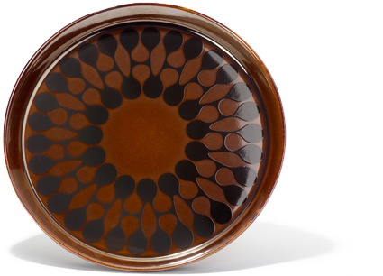 Brown plate