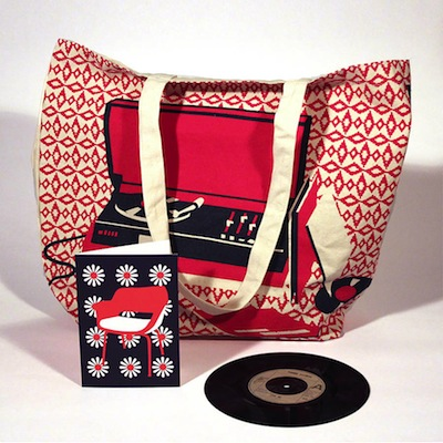 Record player canvas bag