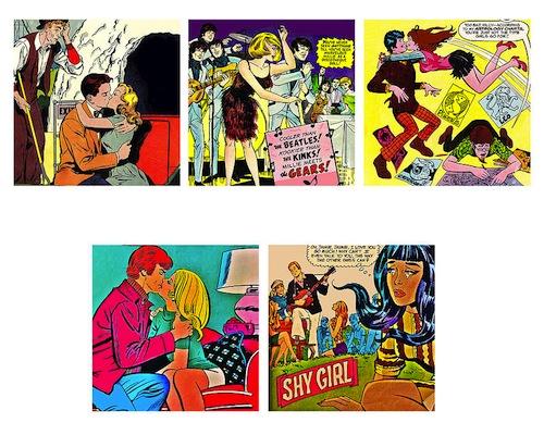 Romantic comic wallstickers